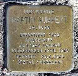 Photo of Martin Gumpert brass plaque