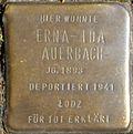 Stumbling blocks for Erna-Ida Auerbach (Mauritiussteinweg 30)