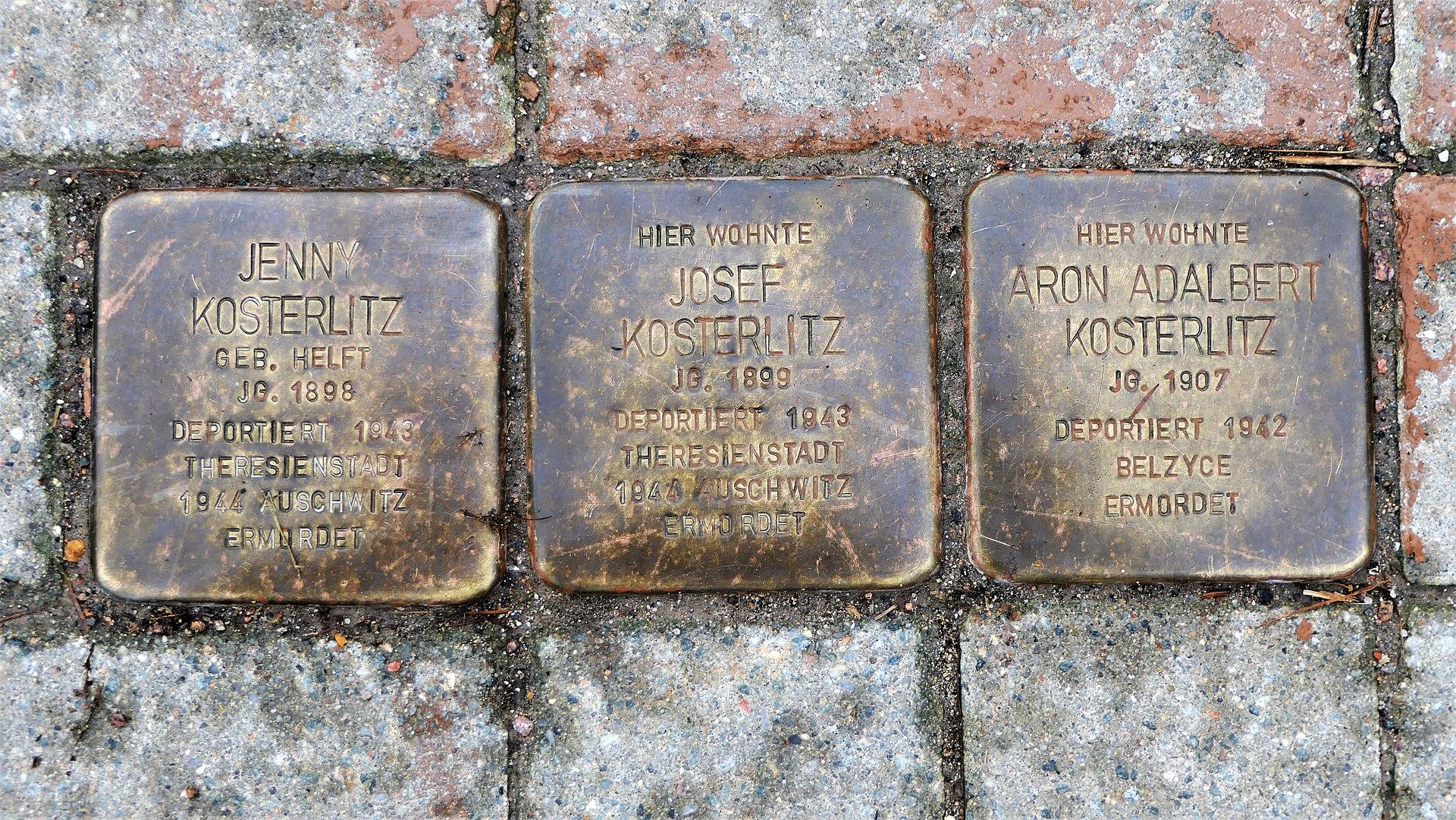 Stolpersteine für Familie Kosterlitz, Mittelgässchen, Waldheim.JPG