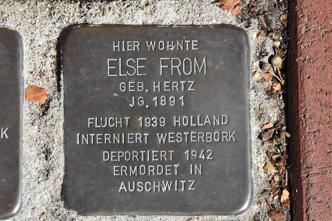 Stolperstein für Else From