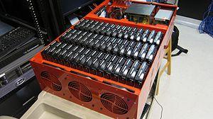 Backblaze - A server case using the open design of the Storage Pod.