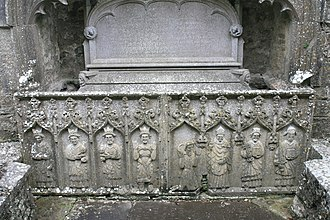 Strade - Image: Strade Friary Sculptured Tomb Panels 2007 08 14