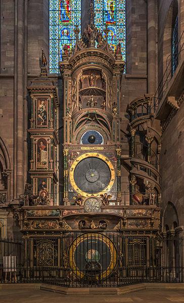 Reloj astronómico de Estrasburgo. Vista general.