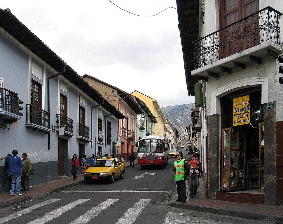 Street in quito-ecuador