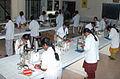 Students at the laboratory of microbiology at Vels University.jpg