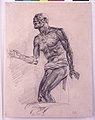 """Study of a Male Nude Study for """"The Death of Seneca"""" MET sf-rlc-1975-1-617.jpeg"""