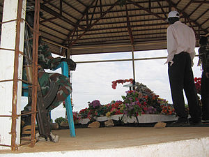 John Garang - Grave of John Garang in Juba, South Sudan - guarded by SPLA-soldiers