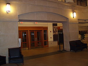 Suffolk University Law School - Entryway of Sargent Hall.