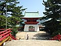 Suitemmon Gate of Akama Shrine from Haiden.JPG
