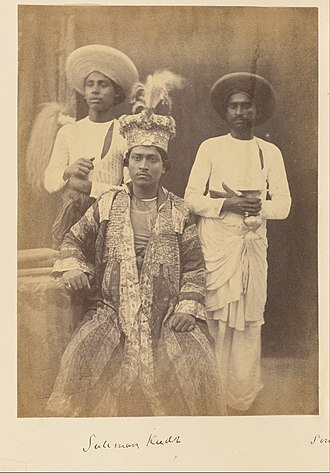 Amjad Ali Shah - Image: Suliman Kudr, Son of Umjud Ally Shah, and Two Servants attributed to Felice Beato