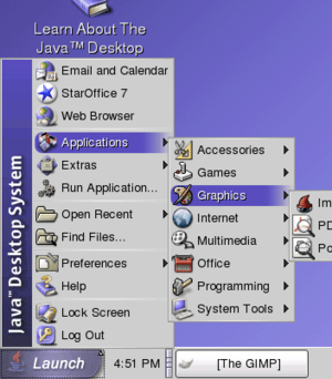 Screenshot di Java Desktop System