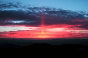 Sun pillar5 - NOAA