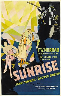 <i>Sunrise: A Song of Two Humans</i> 1927 film directed by F. W. Murnau