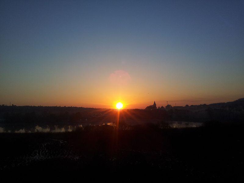 Sunset over Hobro 28-04-14. - panoramio.jpg