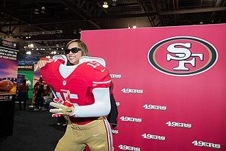Super Bowl XLVII - 49ers Fans enjoying Super Bowl gear before showtime