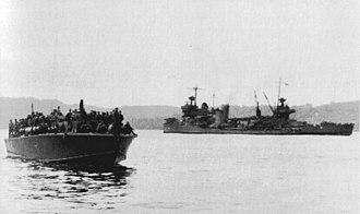 USS New Orleans (CA-32) - Image: Survivors on PT boat after Tassafaronga