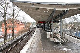 Svedmyra metro station - Image: Svedmyra A