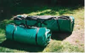Swag (bedroll) - Rolled modern commercial swags