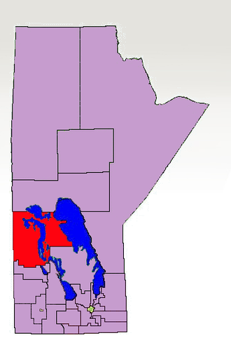 Swan River (electoral district) - The 1998-2011 boundaries for the Swan River highlighted in red