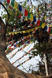 Banderas tibetanas de oraci n explicaci n pueblotibetano for Banderas decorativas para jardin