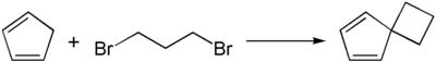 Synthese einer Spiroverbindung mit 1,3-Dibrompropan