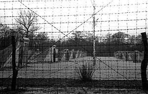 Syrets concentration camp - Syrets concentration camp. Barbwire fence