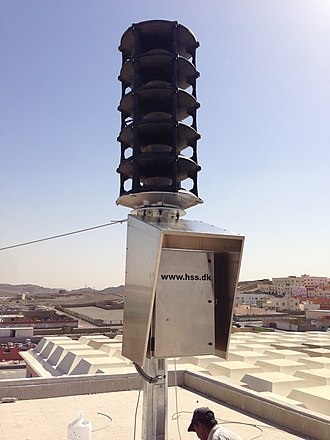 Siren (alarm) - A HSS Engineering TWS 295 electronic sirens warning Civil Defense siren.