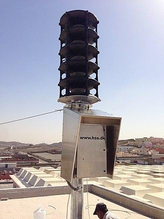 Civil defense siren - A HSS Engineering TWS 295 electronic sirens warning Civil Defense siren.