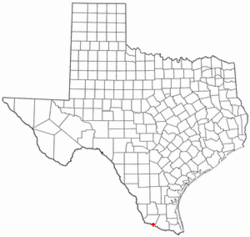 Location of La Grulla, Texas