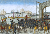 French troops capturing Stettin