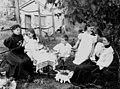 Taking tea in the garden, 1890s (5141916932).jpg