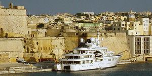 Tatoosh (yacht) - In the harbour of Valletta, Malta