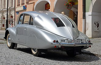 Tatra 87 - A 1940 Tatra 87 Saloon, showing the identifiable rear 'Sharks-fin' and lack of rear windows.