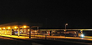 Night Riviera - Up and Down services pass at Taunton