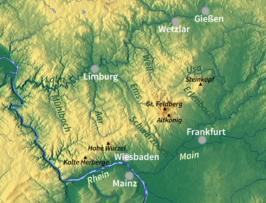 Wandelgids - Zuid West Taunus- Lahn- Rhein & Main - Rother
