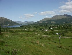 View of Taynuilt and Airds Bay from near Balindore
