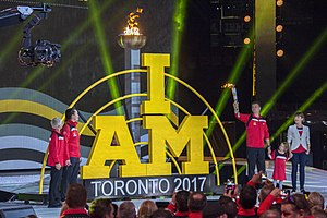 2017 Invictus Games - Lighting of the torch to open the 2017 Invictus Games