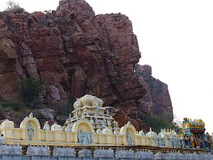 Gandi Kshetram - Temple of Abhayahastha Anjaneya Swamy (Lord Hanuman) on the banks of River papagni