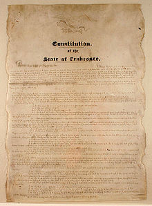 Tennessee State Constitution - Wikipedia, the free encyclopedia