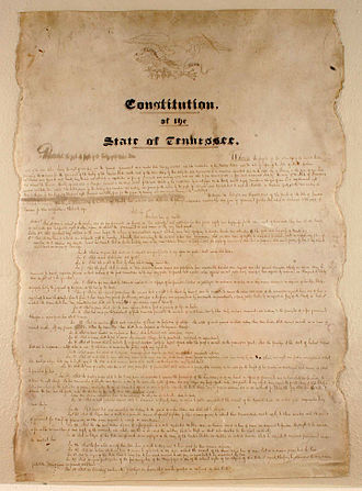 Constitution of Tennessee - The second version of the Tennessee State Constitution was adopted in 1835.