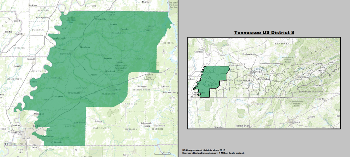 Tennessees Th Congressional District Wikipedia - Memphis tn on us map