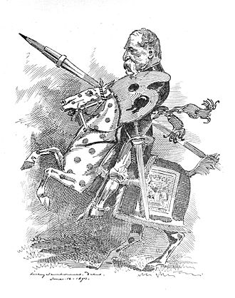 John Tenniel - The Black-and-White Knight, by Linley Sambourne, Punch, June 24, 1893