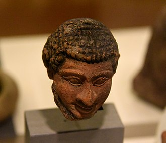 "Hebrews - Terracotta head of Semite, marked ""Hebrew"" by Petrie. From Memphis, Foreign Quarter, Egypt. Graeco-Roman Period. The Petrie Museum of Egyptian Archaeology, London"