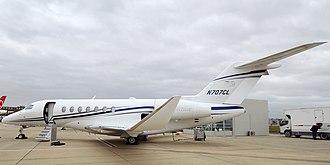 Cessna Citation Longitude - Image: Textron Aviation, N707CL, Cessna 700 Citation Longitude (31378962178) (cropped)