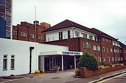 Teddington Studios in London, where several Thames Television dramas overseen by Lambert, such as Rock Follies, were produced in the 1970s.