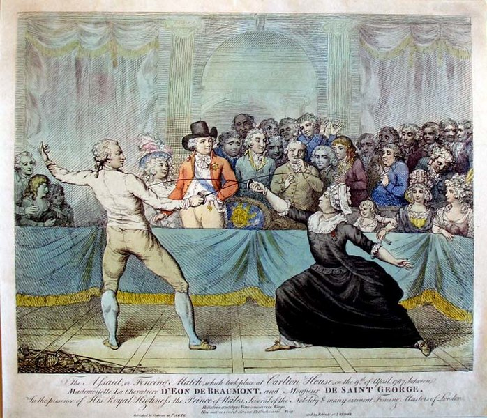 File:The Assaut or Fencing Match which took place at Carlton House on the 9th of April 1787.jpg