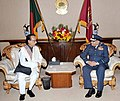 The Chief of the Air Staff, Air Chief Marshal PV Naik calls on the President of Bangladesh Mr. Mohammad Zillur Rahman, in Bangladesh on January 17, 2010.jpg