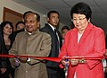 The Defence Minister, Shri A. K. Antony and the Kyrgyz President, Ms. Roza Otunbaeva inaugurated the Kyrgyz-Indian Mountain Biomedical Research Centre, in Bishkek, Kyrgyzstan on July 05, 2011.jpg