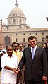 The Defence Minister of Russia, Mr. A.E. Serdyukov being received by the Defence Minister, Shri A. K. Antony, in New Delhi on October 07, 2010.jpg