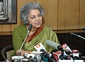 The Dy. Comptroller and Auditor General, Ms. Bharati Prasad briefing the media on the XXIV Accountants General Conference, in New Delhi on October 13, 2008.jpg